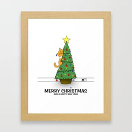 Lucy's Christmas Framed Art Print