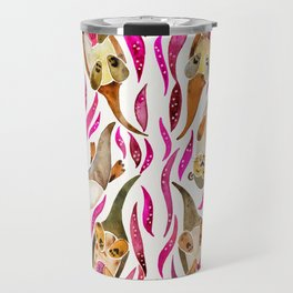 Otters – Pink Accents Travel Mug