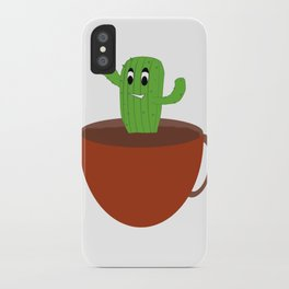 Happy Cactus in A Cup iPhone Case