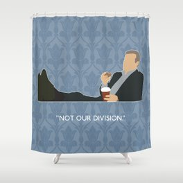 The Reichenbach Fall - Greg Lestrade Shower Curtain