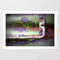 Box Car Aging  Art Print