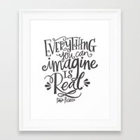 imagine Framed Art Prints featuring IMAGINE by Matthew Taylor Wilson