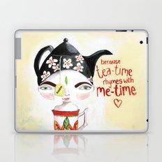 Miss Tea-Time Laptop & iPad Skin