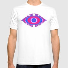 Pink Eye Mens Fitted Tee White MEDIUM