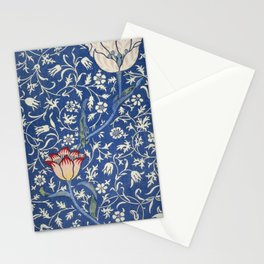 William Morris Victorian blue flowers Stationery Cards