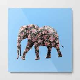 Elephant print Metal Print