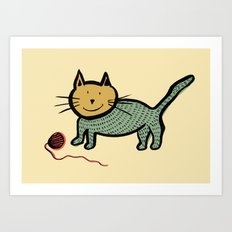 Le petit chat Art Print