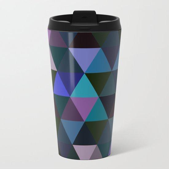 Abstract #293 Metal Travel Mug