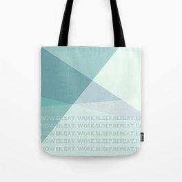 Green Geometric Artwork  Tote Bag
