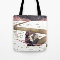 sagittarius Tote Bags featuring Sagittarius by Leonard Peng
