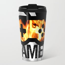 Gamer Flames BNW Travel Mug