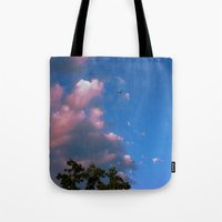 airplanes Tote Bags featuring There, Airplanes by Alisha Greenlaw