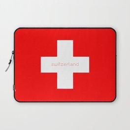 Swiss Cross - Swiss Flag Laptop Sleeve