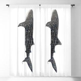 Whale shark Rhincodon typus Blackout Curtain