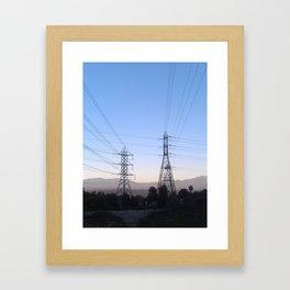 Electric Sky Line Framed Art Print