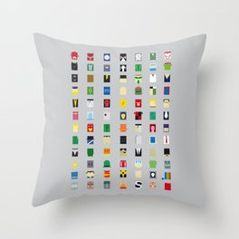 Minimalism Villains Throw Pillow