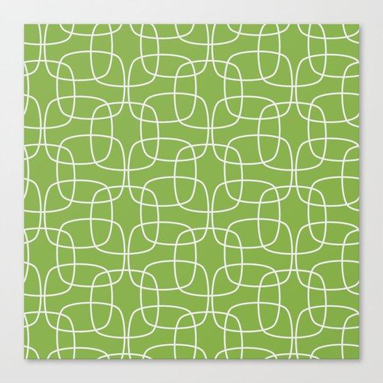 Square Pattern Greenery Canvas Print
