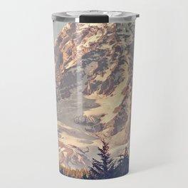 Mount Rainier Retro Travel Mug