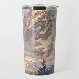 Mount Rainier Retro Travel Mug