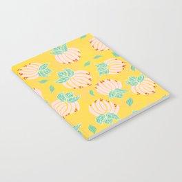 Blush Bloom Peony Lemon Notebook