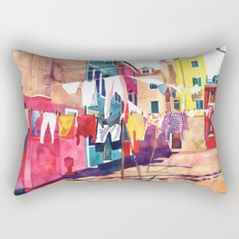 Laundry in Venice Rectangular Pillow