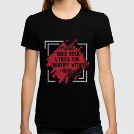 Punk Music Lovers Pop Jazz Musicians Gift Place Indie Rock Lyrics T-shirt