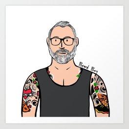 Beard Boy: Brock Art Print