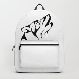 wolf drawing Backpack