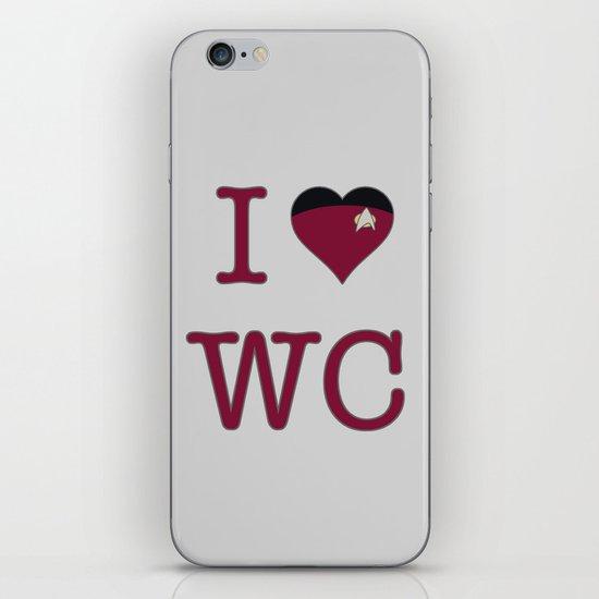 I Heart Wesley Crusher iPhone & iPod Skin