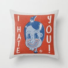 Hater Vintage Kid Throw Pillow