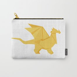 Origami Golden Dragon Carry-All Pouch