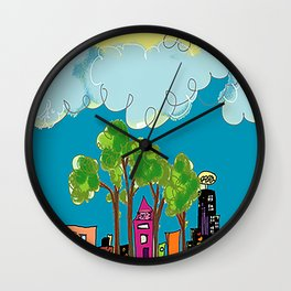 JL The City View Wall Clock