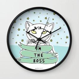 My Cat is the Boss Wall Clock