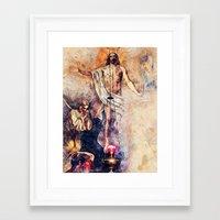 christ Framed Art Prints featuring  Jesus Christ by jbjart