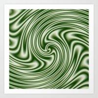 Spearmint Ribbon Candy Fractal Art Print