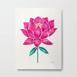 Sacred Lotus – Magenta Blossom Metal Print
