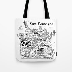 San Francisco Map Illustration Tote Bag