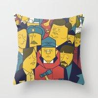 fargo Throw Pillows featuring Fargo by Ale Giorgini