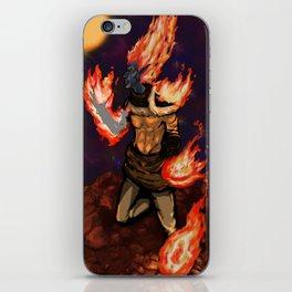Flaming Space Elf iPhone Skin