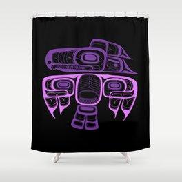 Tlingit thunderbird purple Shower Curtain