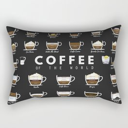 Coffee Types Chart Rectangular Pillow