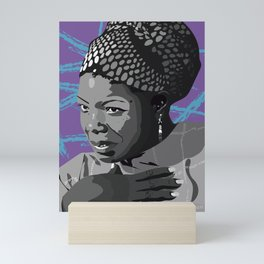 Maya Angelou- Portrait Mini Art Print
