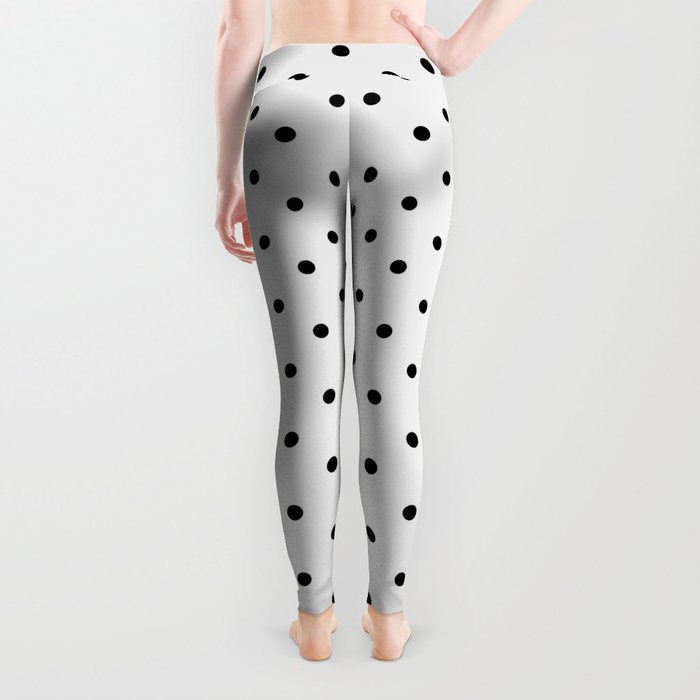 Minimal - Small black polka dots on white - Mix & Match with Simplicty of life Leggings