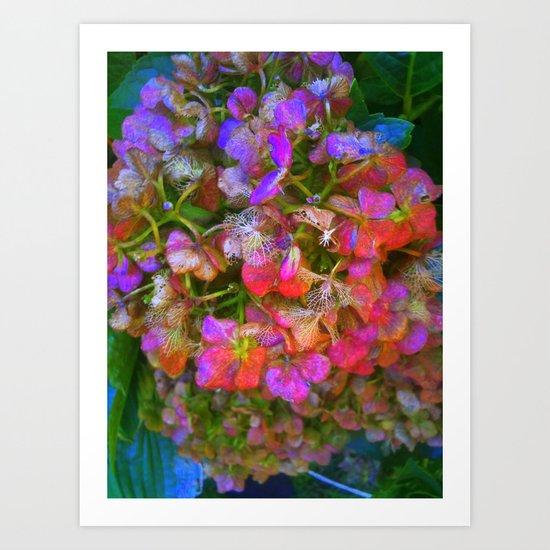 Flower Skeleton Art Print