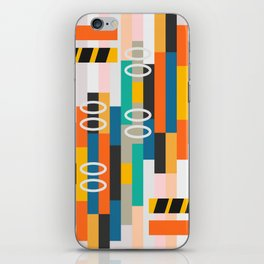 Modern abstract construction iPhone Skin