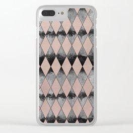 Geometric Diamond Glam #1 #geo #decor #art #society6 Clear iPhone Case