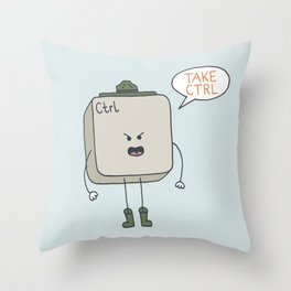 Take Control Throw Pillow