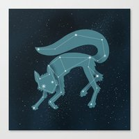 starfox Canvas Prints featuring Star Fox (Vulpes astra) by Sarajea