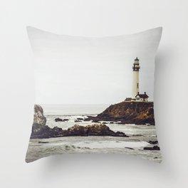 Lighthouse along the California Coast Throw Pillow