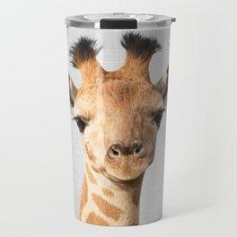 Baby Giraffe - Colorful Travel Mug